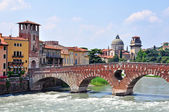 Ancient architecture of Verona — Stock Photo