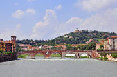 Panorama of Verona old town — Stock Photo