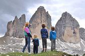 Family in mountains — Stock Photo