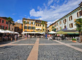 Town square on Sirmione, Italy — Stock Photo