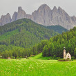 Lonely church in Dolomites — Stock Photo #51501879