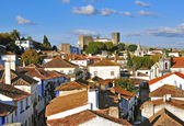 Roofs of Obidos, Portugal — Stock Photo