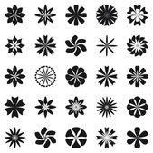 Flower symbol set — Stock Vector