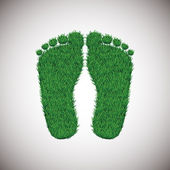 Grass footstep — Stock Vector