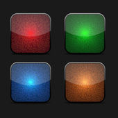 Collection d'icônes luminescentes — Vecteur
