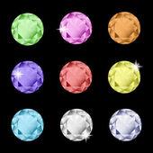 Coleção de strass multicoloridos — Vetorial Stock