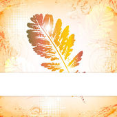 Autumn leaves greeting card — Stock Vector