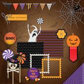 Elementos de diseño de halloween — Vector de stock