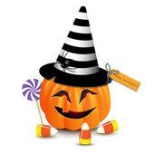 Halloween funny pumpkin — Cтоковый вектор