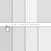 Light pixel seamless patterns — Stock Vector