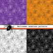 图库矢量图片: Spider web seamless patterns
