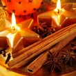 Candle plate — Stock Photo