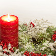 Advent Candle of Christmas Season — Foto de Stock