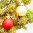 Stock Photo: Christmas Ornaments on Spines