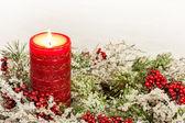 Komst kaars van Kerstmis seizoen — Stockfoto