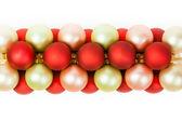 Christmas Ornaments Linked — Stock Photo