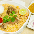 Mutton Biryani with Egg — Stock Photo