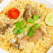 Mutton Biryani Closeup — Stock Photo