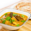 Indian Chicken Curry with Parotta — Stock Photo