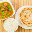 Indian Chicken Curry Meal — Stock Photo
