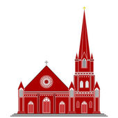 Gothic Style Church — Stock Vector
