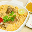 Mutton Biryani with Condiments — Stock Photo