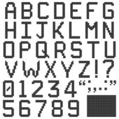 Square Pixel Font — Stock Vector