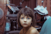 Portrait of mystique looking little girl — Stock Photo