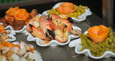 Delicious looking fresh cooked crab claws — Stock Photo