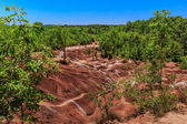 Cheltenham Badlands background is a small example of badlands formation in Caledon. On. — Stock Photo