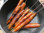 Ready peppered sausages — Stock Photo
