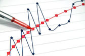 Upward trend chart — Stock Photo