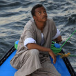 Egyptian boat salesman — Stock Photo