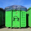 Green containers — Stock Photo #34237171