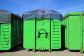 Green containers — Stock Photo