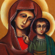 Icon of saint Maria with child — Stock Photo