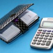 Diary and calculator — Stock Photo #36727975