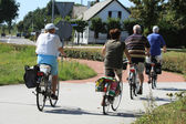 Adults people on bicycles — Fotografia Stock