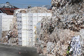 Waste paper processing — Stock Photo
