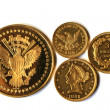 Old Gold Coins of America — Stock Photo #51503749