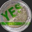 Stock Photo: Euro coin 029
