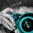 Stock Photo: Turquoise Camer002