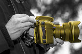 Golden Camera 001 — Stockfoto