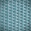 Rattan wicker texture or pattern (blue) — Stock Photo