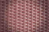Rattan wicker texture or pattern (red) — Stock Photo