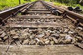 Railroad Track details 016-130509 — Stock Photo
