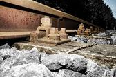 Spoorweg bijhouden details 005-130509 — Stockfoto