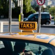 Taxi in Istanbul - Stock Photo