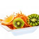 Salad with kiwi and carrots — Stock Photo #40728363