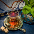 Arabic mint tea — Stock Photo